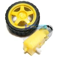 harga Roda + Motor Gearbox Smart Car Robot Tyre 1:48 Gear Ratio Ban Kuning Tokopedia.com