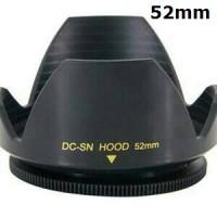 Lens Hood 52 mm Mennon 52mm Flower Tulip Ulir Untuk Canon Nikon