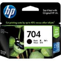TINTA Printer  HP 704 BLACK ORIGINAL Hitam