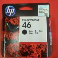 Tinta Printer HP 46 Black Hitam Original untuk HP 2020 HC dan 2520 HC