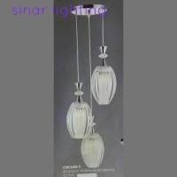 harga LAMPU HIAS GANTUNG PLAFON CM348/3 (packing kayu) Tokopedia.com