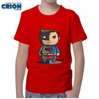 harga Kaos Batman Vs Superman Anak - Batman Vs Superman Chibis - By Crion Tokopedia.com