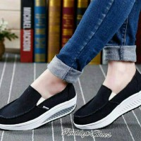 harga Slip On Wedges Polos/Sepatu Wanita Korea Tokopedia.com