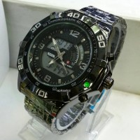 jam tangan Swiss Army double time silver kw super