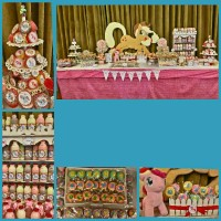dessert table / sweet corner ultah anak my little pony murah