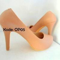 harga High Heels 10cm Biru Blue Royal Pantofel Sepatu Wanita Heel Kulit Tokopedia.com