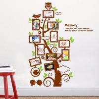 Jual wall sticker 60x90/wall stiker transparan-JM7202-OWL TREE FRAME II Murah