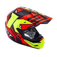 harga Helm KYT Trail Motocross Cross Over K-Racing Red Fluo Super Tokopedia.com