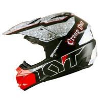 Helm KYT Trail Motocross Cross Over K-Racing Red White Black