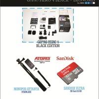 Paket Ekonomis - Kamera GoPro HERO4 Black - Xiaomi Yi, SJ CAm, Bpro