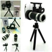 harga Lensa telezoom teleskop 8x paket mini tripod plus holder Tokopedia.com