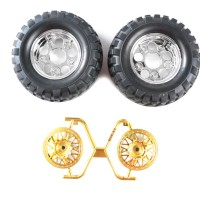 54484 Tamiya RC Rock Block Tires - with 2-Piece Mesh Wheels (CC01)
