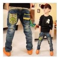Boy Jeans Xiao Din Dou - AGEN BAJU ANAK IMPORT -Celana Jeans Anak Gaul