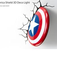 3D Deco Light Captain America Shield Original License Marvel