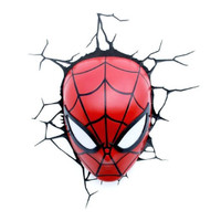 3D Deco Light Spiderman Head Original License Marvel