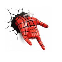 Marvel 3D Light FX 3D Deco Light Spiderman Hand Original License Marve