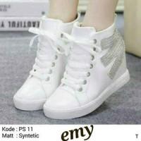 Sepatu Kets PS12 Putih Wanita/Cewek Model Bagus Jual dg Harga Murah