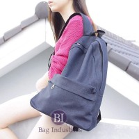 Jual Tas Sekolah Jeans Hitam Ransel Kanvas Backpack Travel Canvas 35 x 40 c Murah