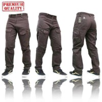 Jual celana cargo Keren taktikal coklat tua 100%sesuai pic