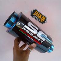 Jual SC PROJECT GP Carbon Blue Slip On For N250 / Z250 / R25 / Cbr / Mt25 Dl