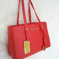 Michael Kors MK Jetset East West Red