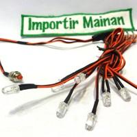 LED rc car lamp|lampu mobilan hobby|HSP 94123 flying fish|BSD|kyosho