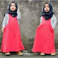 hijab cindy kids merah