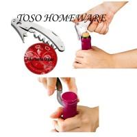 Tanica Wine Opener, Pembuka Botol Bottle Wine Stainless Corkscrew