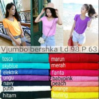 READY BEST SELLER! NEW VNECK JUMBO BERSHKA