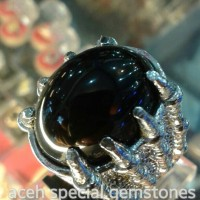 """cincin batu mulia """"BLACK SAPPHIRE"""""""