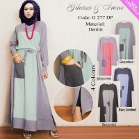 G277DP/G 277 DP IRENE HIJAB GAMIS DENIM SYAR'I DRESS FASHION MUSLIMAH