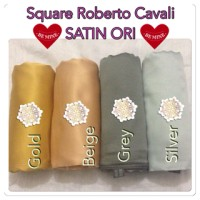 segi empat satin/Roberto Cavali /satin ORI