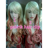 wig ombre curly 80cm/ hairclip/hair clip