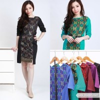 Lopoyutre Batik Bodycon Mini Dress / Dress Kerja Batik Wanita