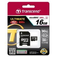Transcend 16GB microSDHC Ultimate 600x 90MBps Class 10 micro sd ORI