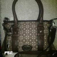 Fossil Maddox Signature Satchel Bag - Tas Original V120