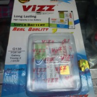 Baterai Vizz Samsung Galaxy Young 2 G130 Batre Double Power Dobel