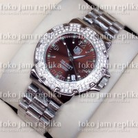 Jam Tangan Tag Heuer F1 Ladies Silver Brown