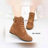 Harga Boot flat suede tali supplier sepatu wanita murah | WIKIPRICE INDONESIA