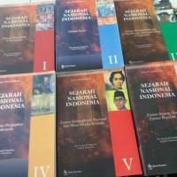 1 set sejarah nasional indonesia 6 buku by balai pustaka