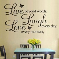 LIVE LAUGH LOVE Butterfly Wall Stickers Decal Vinyl Home Room Decor