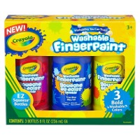 Crayola Washable Bold Fingerpaints Primary Colors