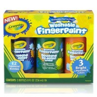 Crayola Washable Bright Fingerpaints Secondary Colors