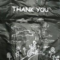 Kantong Plastik/Kresek Happy Ramah Lingkungan motif thank you