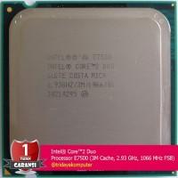 Intel Core2 Duo Processor E7500 3M Cache 2.93 GHz 1066 MHz LGA 775