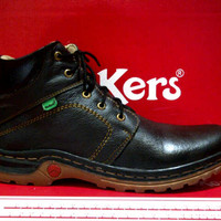 Jual Sepatu Kickers Boots Kulit Baru | Sepatu Pria Online Murah