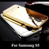 Metal Bumper Mirror Back Cover Casing Case Samsung Galaxy S5