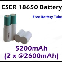 ESER 18650 Baterai 5200mah Bersertifikat UL/SGS/EMC/ IEC/UN 38.3/RoH