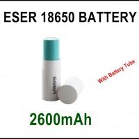 ESER 18650 Baterai 2600mah Bersertifikat UL/SGS/EMC/ IEC/UN 38.3/RoH