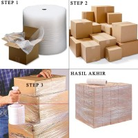 EXTRA PACKING 3 IN 1 (BUBBLE WRAP + BOX KARDUS + PLASTIK STRETCH FILM)